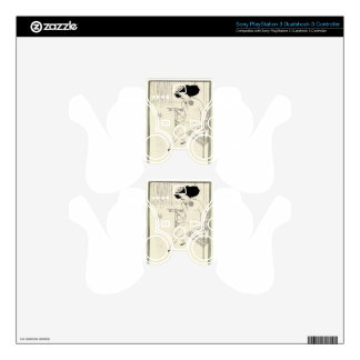 Caricature of James McNeill Whistler by Aubrey PS3 Controller Skin