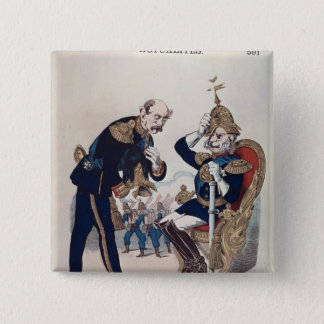 caricature of Kaiser Wilhelm  of Prussia Pinback Button