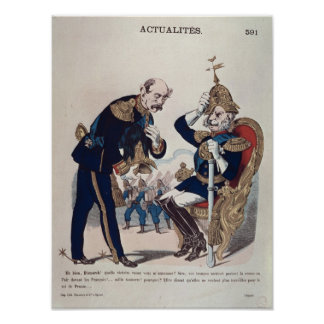 caricature of Kaiser Wilhelm  of Prussia Poster