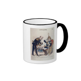 caricature of Kaiser Wilhelm  of Prussia Ringer Mug