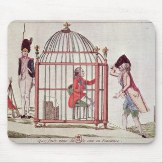 Caricature of Louis XVI in a cage Mouse Pad