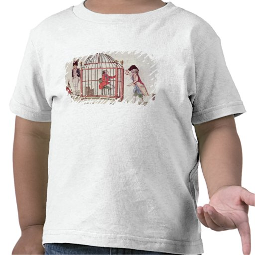 Caricature of Louis XVI in a cage T-shirts