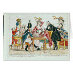 Caricature of Louis XVI  playing chess Cards