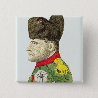 Caricature of Napoleon Bonaparte Button