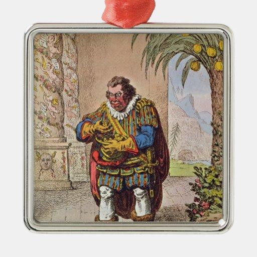 Caricature of Pizarro contemplating the Metal Ornament