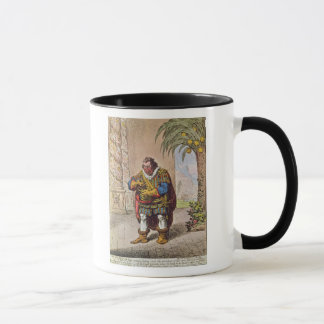 Caricature of Pizarro contemplating the Mug