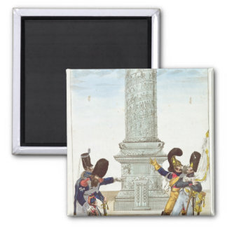 caricature of soldiers at the Colonne Vendome Fridge Magnet