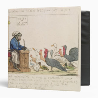 Caricature of the Assembly of Notables Binder