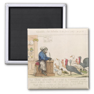 Caricature of the Assembly of Notables 2 Inch Square Magnet