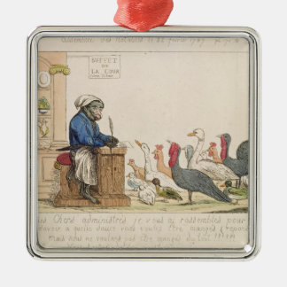 Caricature of the Assembly of Notables Metal Ornament