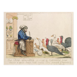 Caricature of the Assembly of Notables Postcard