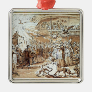 Caricature of the clergy metal ornament