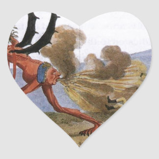 Caricature of the English Government Jacques-Louis Heart Sticker