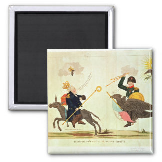 Caricature of the 'Hundred Days' 2 Inch Square Magnet