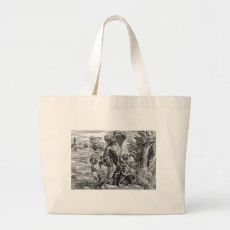 Caricature of the Laoc on group by Titian Jumbo Tote Bag