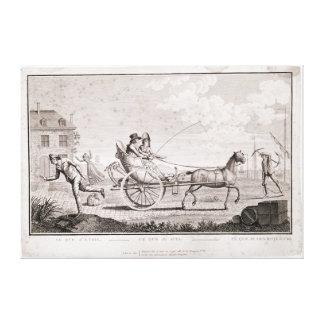 Caricature of the Nouveaux Riches, c.1795 Canvas Print