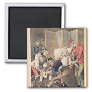 Caricature of the Triple Alliance 2 Inch Square Magnet