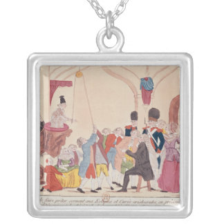 Caricature of the way to make aristocratic silver plated necklace