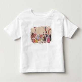 Caricature of the way to make aristocratic toddler t-shirt