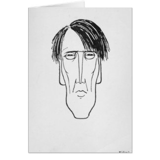 Caricature of W.B. Yeats, 1898 Card