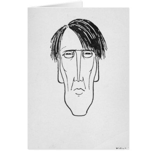 Caricature of W.B. Yeats, 1898 Greeting Card