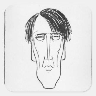 Caricature of W.B. Yeats, 1898 Square Sticker