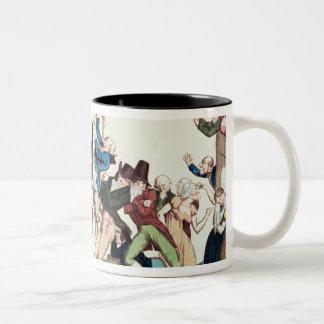 Caricature on the 1811 Comet, c.1811 Two-Tone Coffee Mug