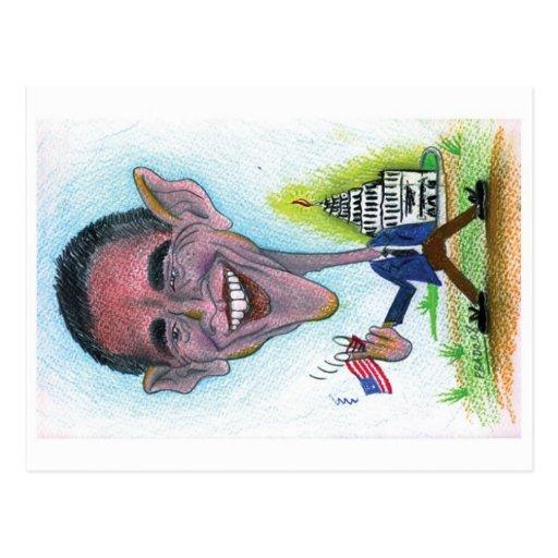 Caricature-Postcard Obama