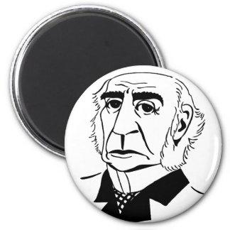 Caricature William Gladstone 2 Inch Round Magnet
