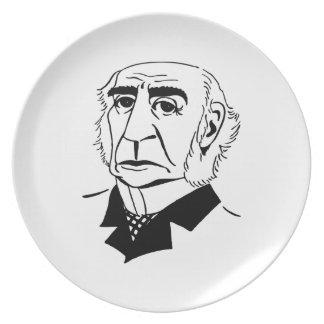 Caricature William Gladstone Plate