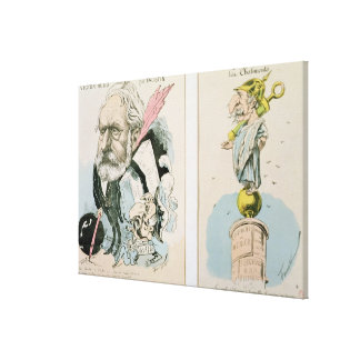 Caricatures of Victor Hugo  and Napoleon III Canvas Print