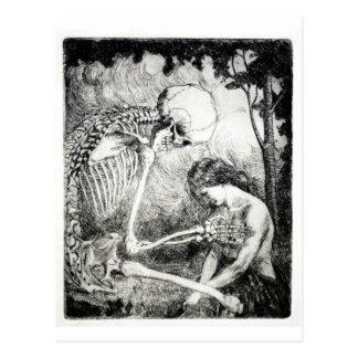 Caricia de la postal de la muerte