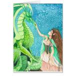 caricia del dragón esmeralda tarjetas