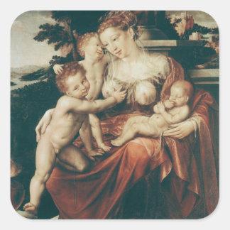 Caridad, 1544-58 pegatina cuadradas