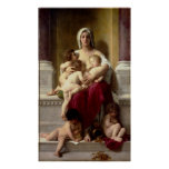 Caridad clásica de la pintura de Bouguereau (La Ch Poster