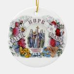 Caridad cristiana 1874 de la esperanza de la fe de ornaments para arbol de navidad