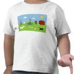Caridad linda del personalizable del muchacho y de camiseta