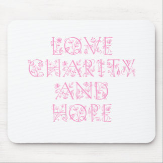 Caridad y esperanza del amor tapete de raton