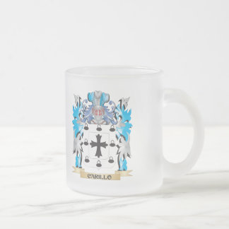 Carillo Coat of Arms - Family Crest 10 Oz Frosted Glass Coffee Mug