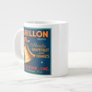 Carillon Brand Citrus VIntage Crate Label Large Coffee Mug