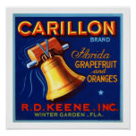 Carillon Brand Florida Grapefruit Poster