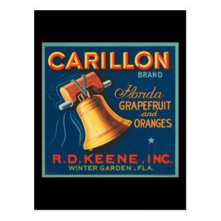 Carillon Florida Grapefruit and Oranges Postcard