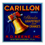 Carillon Florida Grapefruits Poster