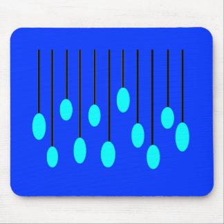 Carillones azules alfombrilla de raton