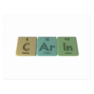 Carin as Carbon Argon Indium Postcard