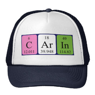 Carin periodic table name hat