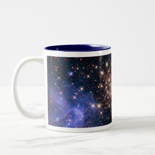 Carina cluster of  golden stars Two-Tone coffee mug