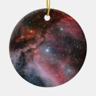 Carina Nebula around the Wolf–Rayet star WR 22 Ceramic Ornament