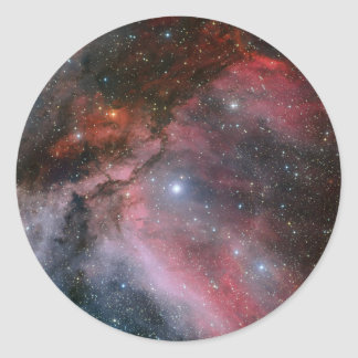 Carina Nebula around the Wolf–Rayet star WR 22 Classic Round Sticker