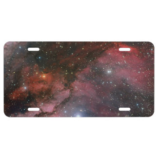 Carina Nebula around the Wolf Rayet star WR 22 License Plate